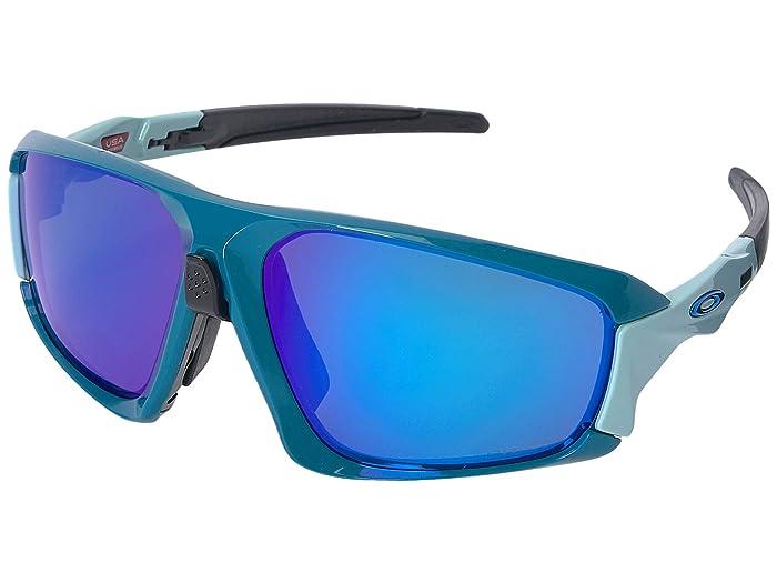Oakley Field Jacket (Balsam/Arctic Surf w/ Prizm Sapphire) Sport Sunglasses