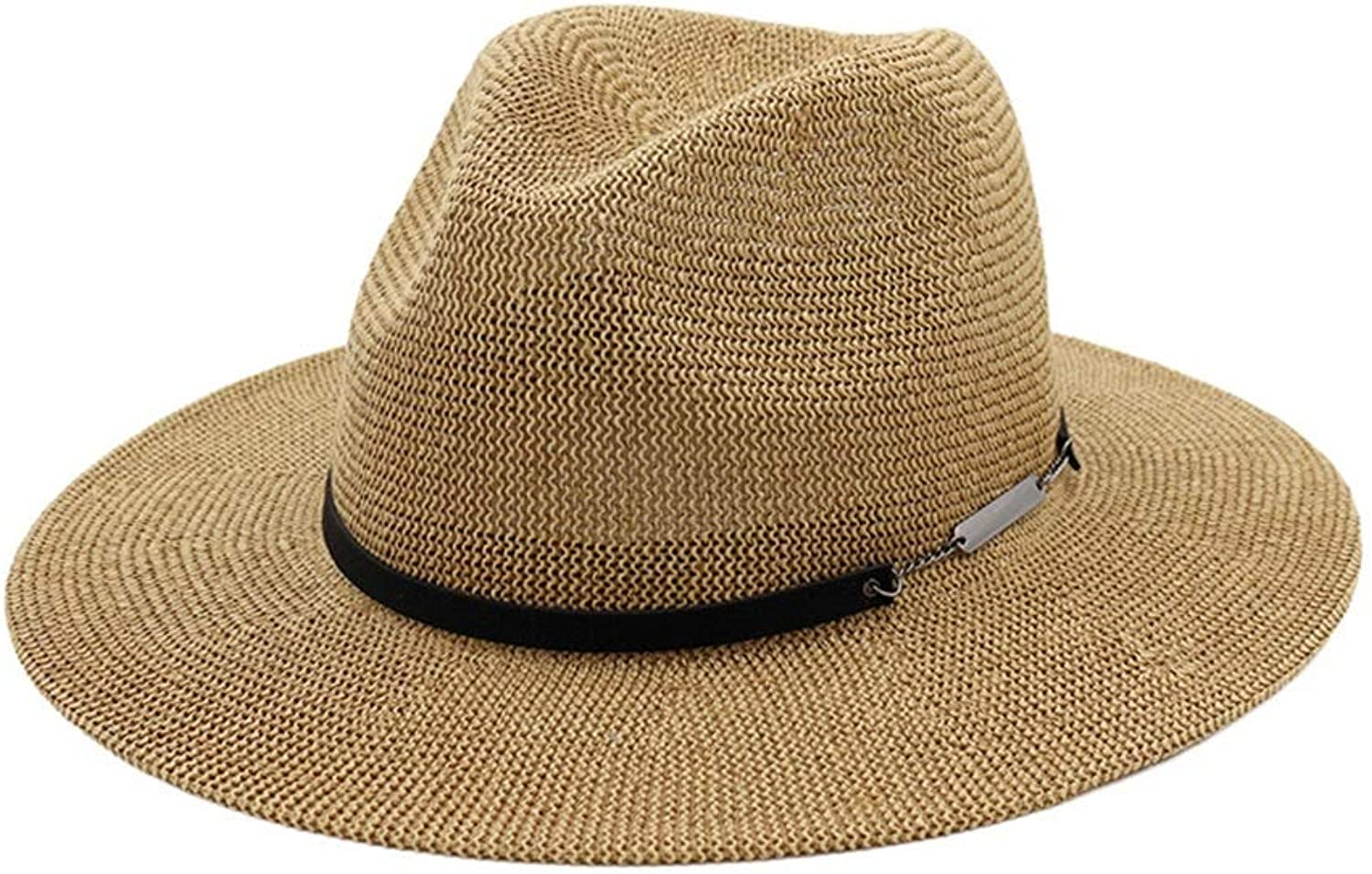 Hat Women's Lightweight Breathable Straw Hat Spring and Summer Sun (color   Coffee)