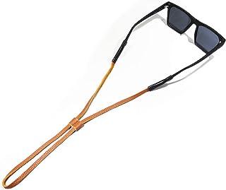 Tether Long Slide Leather Slim Eye Wear Retainer/Sunglass Strap/Eye Wear Strap (Tan)