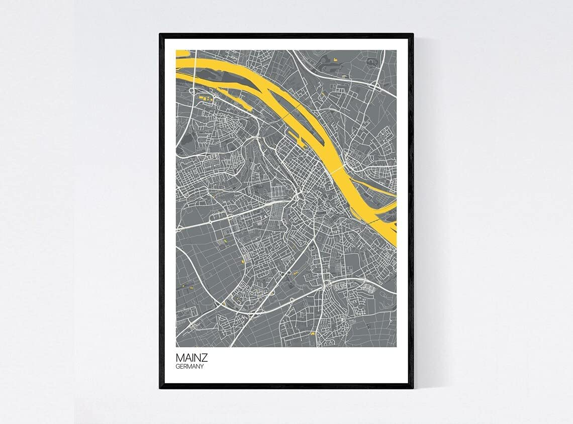 Mainz Germany City Map Print - Ultra-Cheap Deals Many On Colours Chicago Mall Printed Qu Art