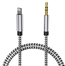 Aux Cable for Car, 3.5mm Aux Cord Car Aux Cable to 3.5mm Aux Adapter Compatible with iPhone 6/7/8/X/Xs/Xr/iPad/iPod [Nylon Braided] 3.5mm Male Aux Cable to Car Stereo, Speaker, Headphone – Silver