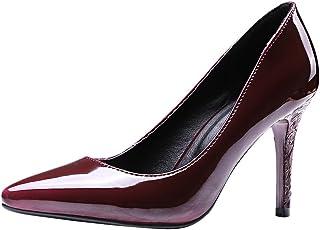 [Charm Foot] レディースシューズ ポインテッドトゥ ピンヒール パンプス[8.0cm ヒール]