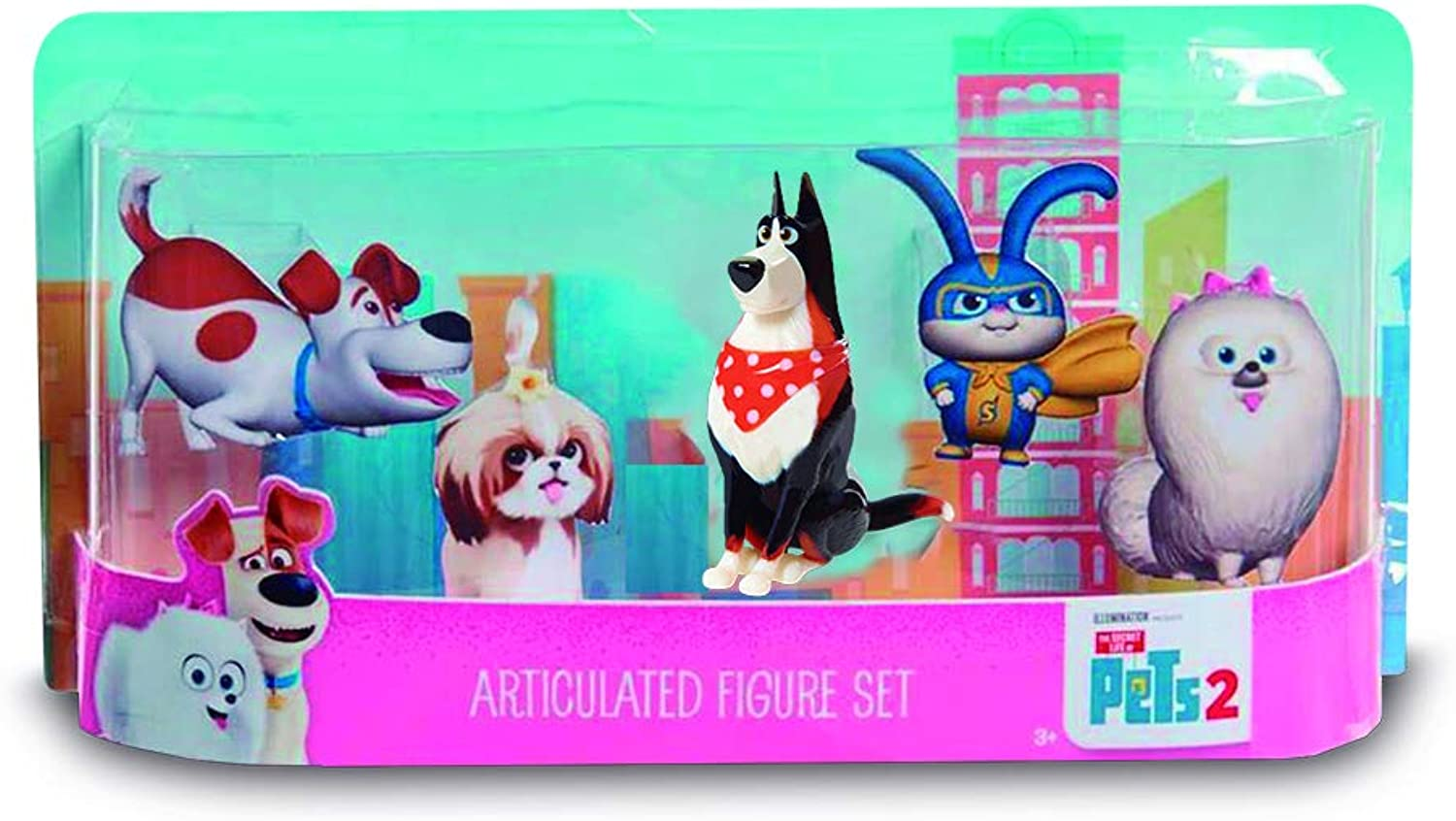 Secret Life Of Pets 2 Collectable Figures 5 Pack [ECE03000]