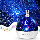 Night Lights for Kids Room,Star Projector Night Light Kids Night Lights Bedroom Kid Night Light Projector Baby Projector Girl Night Light Room Ceiling Music Bluetooth Girls Gifts Birthday Remote Timer