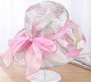 SYT Sun hat Terciopelo de Encaje de impresión sombrilla de Verano protección UV Gran Cara Cubierta Sol Sombrero de Mediana Edad señoras Madre Sombrero Plegable