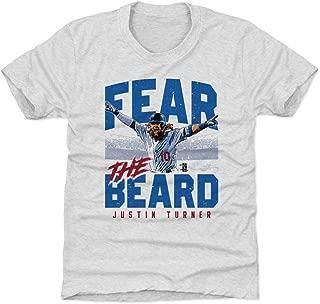 500 LEVEL Justin Turner Los Angeles Baseball Kids Shirt - Justin Turner Fear The Beard