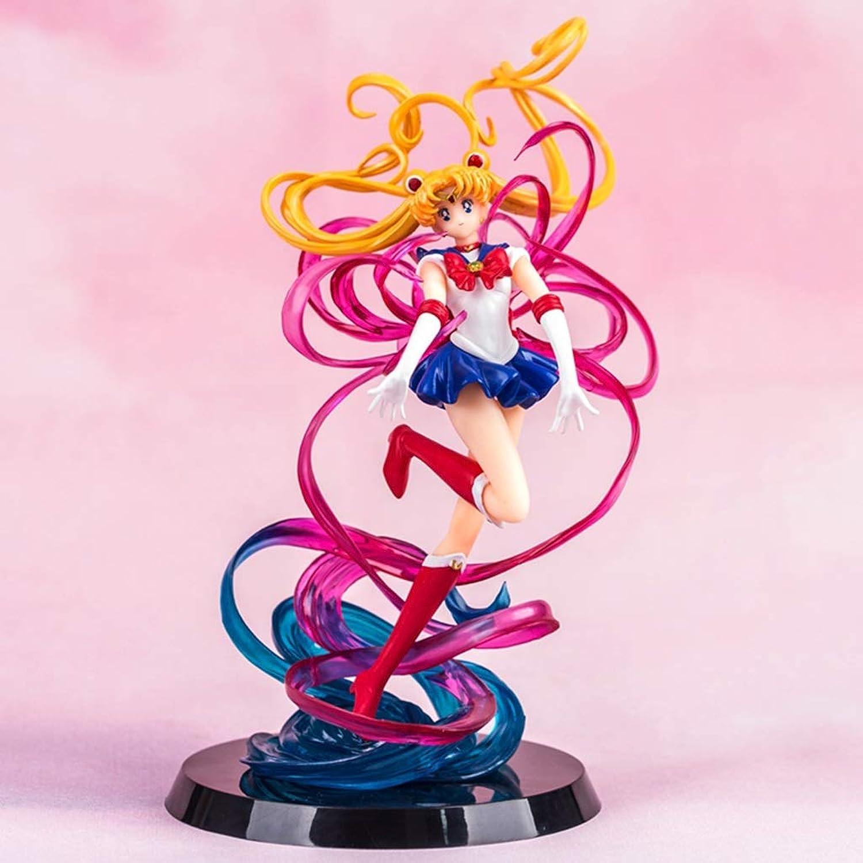 alta calidad DYHOZZ Sailor Sailor Sailor Moon Anime Estatua Mes de Modelo de Liebre Colección Regalo de cumpleaños -20CM Estatua de Juguete  directo de fábrica