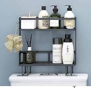 Apsan Bathroom Over The Toilet Storage Shelf, 2-Tier Bathroom Storage Organizer Shelves, Space Saver Small, Black