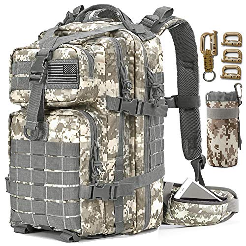 EMDMAK Military Tactical Backpack, Large Military Pack Army 3 Day Assault Pack Molle Bag...