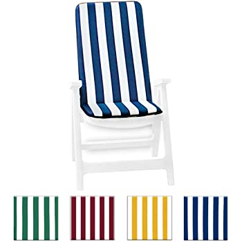 34A Cuscino copri sedia UNIVERSALE morbido girasoli seduta poltrona sdraio tessuto cotone per piscina mare giardino mod.IBIZA BIANCO