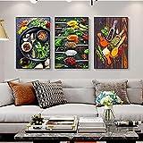 Pintura en lienzo Tema de cocina Mezcla de hierbas y especias de chile Imágenes artísticas de pared ...