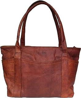 DC Elements Damen Einkaufstasche Echtes Leder Tote Schulter Handtasche Classic Shopper Abend Geldbörse