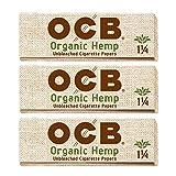OCB Organic Hemp 1 1/4 Rolling Papers - 3 Packs - 50 Papers Each