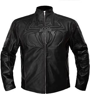 The Amazing Spider Man Men's Stylish Genuine Leather Biker Bomber Costume Jacket