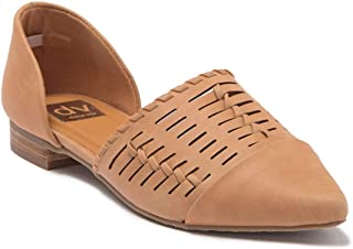 Dolce Vita Dell Woven Two Piece D'Orsay Flat Tan Pointed Toe (7)