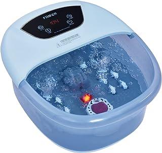 Bain de Pieds Relaxant, Balnéothérapie Pieds avec Pierre de Pédicure 4 en 1 avec fonction chauffage/massage/bulles/Infusio...