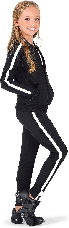 Girls Team Zip Up Long Sleeve Striped Jacket D3046C