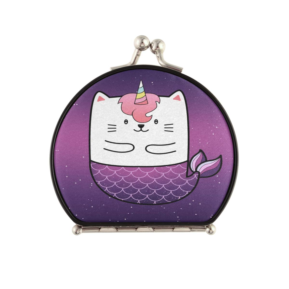 Magnifying Compact Cosmetic Mirror Cute Cat Mermaid mart Pocke Galaxy OFFicial store