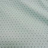 Stoff Baumwollstoff Meterware Waben grau mint Kleiderstoff