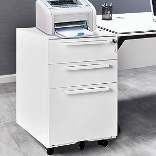 Kays Caisson de Bureau Armoire de Bureau Mobile Armoires De Fichier Mobile Cabinet De Dépôt De Bureau avec 3 Tiroirs Armoi...