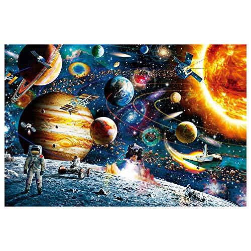 XINGX Rompecabezas Espacial Rompecabezas Espacial 1000 Piezas Rompecabezas para Niños Adultos Planetas en El Espacio Regalo del Rompecabezas del Sistema Solar