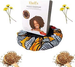 Bonnet Chauffant Enfants Pour Soins Capillaires, Bonnet Chauffant Cheveux Crepus 100% Naturel aux Graines de Lin, Microond...