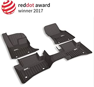 3W Floor Mats for Jaguar F-pace (2017-2019) - Front & Rear 2 Rows Seating Full Sets All Weather Protection Custom Fit Car Carpet Floor Liners with Odorless Heavy Duty TPE, Black