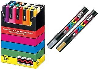 Uni-posca Paint Marker Pen SUPECIAL SET (c-set) Mitsubishi Pencil Uni Posca Poster Color Marking Pens Medium Point 15 Colo...