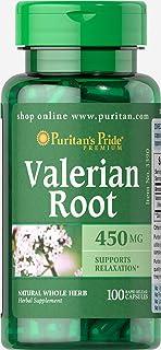 Puritan's Pride Valerian Root 450mg, Capsules, 100ct
