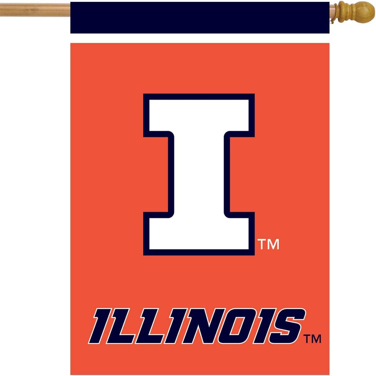 Illinois Fighting Illini House Flag College Licensed 28