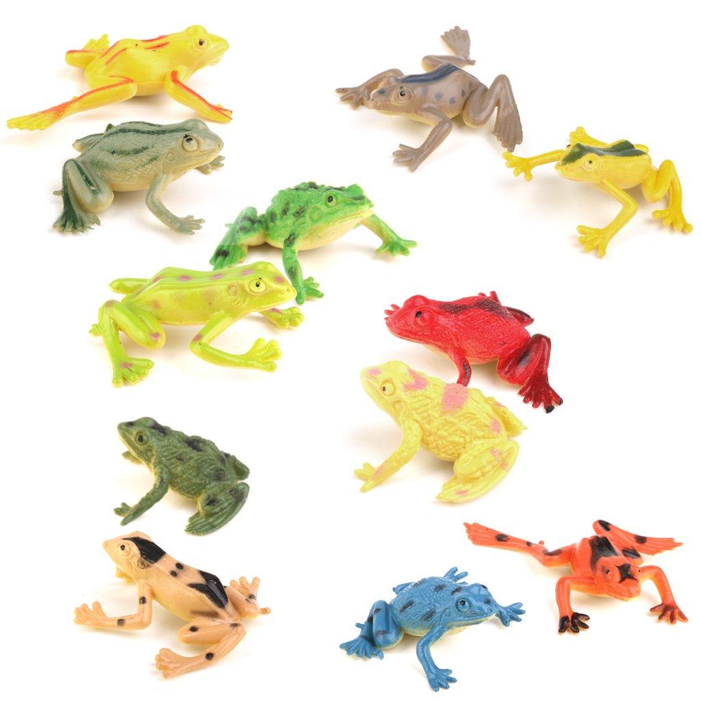 TENDOC 12pcs Plastic Snake Toy Pretend Party Tricks Props Set