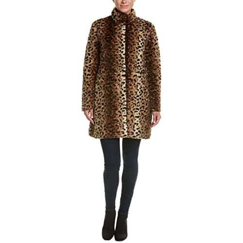 178144e4e62 Via Spiga Reverse Faux Fur Printed Coat