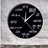 Asbjxny Números De Ingeniería Matemáticas Reloj De Pared Ecuación Matemática Reloj Decorativo Pop Quiz Arte De La Pared Cienciapara Matemáticas Frikis Y Maestros12Inch