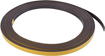 """Rolo de fita adesiva magnética MasterVision, 2,54 cm x 1,20 m, preto (FM2020), Preto, 1/2"""" x 50'"""