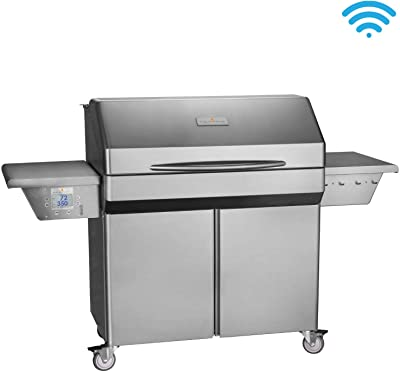 Memphis Grills Elite Wood Fire Pellet Smoker Grill with Wi-Fi (VG0002S), Freestanding, 304 Stainless Steel Alloy