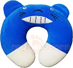 My NewBorn Baby U Shaped Neck Support Pillow for Nursing/Feeding (U Shape-Smiley Baby -Blue)