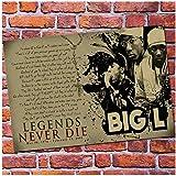 TanjunArt Biggie Smalls DITC Big L Rock West Coast Rap Hip Hop Rap Cantante Poster Home Decor Wall Art Decorazione Domestica -60x90cm Senza Cornice