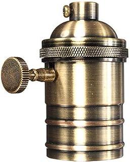 Casquillo E27 vintage - Edison E27 casquillo bombilla de rosca industrial para lámpara colgante o aplique de pared (bronce)