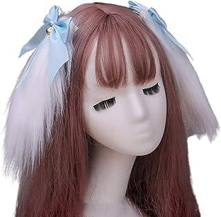 Beautiful crown Donne ragazze carino peloso coniglietto lunghi orecchie per capelli clip per capelli stile giapponese loli...