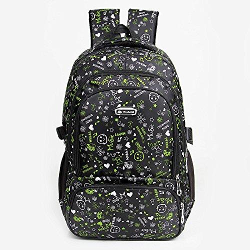 XIE@ All'aperto alpinismo borsa moda ladies bag color caramella zaino uomini sport studente borsa da viaggio , black