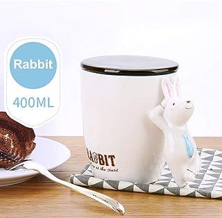 Water Creative Mugs-3D Mango Estereoscópico para Animales, Taza de Cerámica de Té con