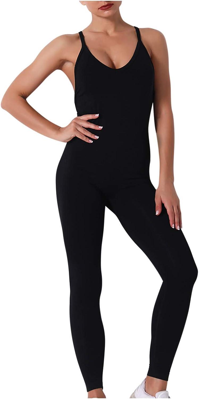 Zainafacai TIK Tok Leggings, Women Texture Bodysuit Sleevesless Sport One-Piece Backless Slimming Bodycon Rompers Jumpsuit