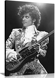 Prince Black & White Music Canvas Wall Art Picture Print (30x20in)