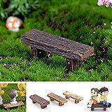 Sanwood 3pcs rétro bancs Jardin Maison Ornement Dollhouse Pot de fleurs figurine DIY extérieur Décor Home Décoration de Halloween