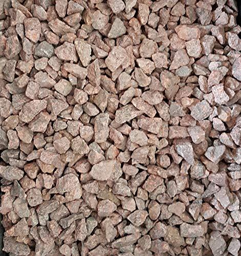 Granitsplitt rot 1000 Kg Granit Splitt Zierkies Gartenkies Teichkies Waschkies 16-32 mm