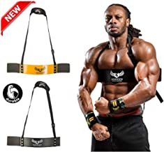 U APPAREL Arm Blaster by Ulisses Jr | Premium Bicep Curl Support Isolator | Heavy Duty, Adjustable, Bodybuilding Gym Curling Biceps Bomber Straps - Pro Isolation Fitness for Arm Size & Strength