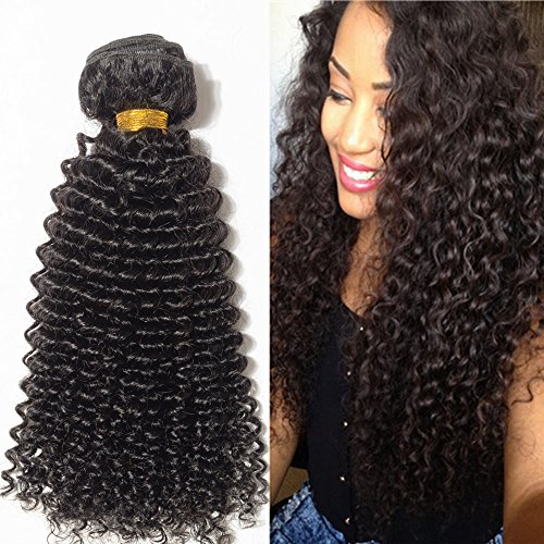 25cm Extension Capelli Veri Tessitura Capelli Ricci Remy Human Hair Kinky Curly Extension Matassa 100g/Bundle
