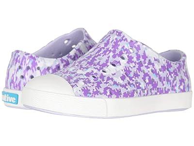 Native Kids Shoes Jefferson Print (Toddler/Little Kid) (Powder Purple/Shell White/Purple Digi) Girls Shoes