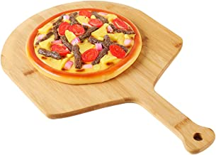 GEHE Premium Natural Bamboo Pizza Peel With Handle for Homemade Pizza and Bread Baking Size 17.7 inch x 12 inch x 0.5 inch