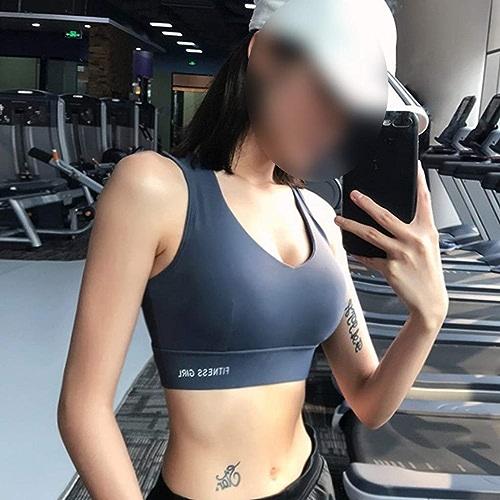 LJJOO Soucravaten-Gorge De Sport Antichoc, Haut De Danse Yoga, Soucravaten-Gorge Ajusté Intégré (Couleur   bleu, Taille   XL)